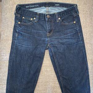 EUC J Crew Matchstick Jeans Size 26.